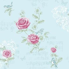 Carta da parati Jenny Wren - Uova di anatra, shabby chic, rose uccelllini e musica CWV Wallcoverings Ltd http://www.amazon.it/dp/B00ISYLGW6/ref=cm_sw_r_pi_dp_YE9zub15TRAMR