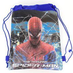 1pcs Spider-man kids school bags cartoon drawstring shoulder backpacks children's backpack 144552