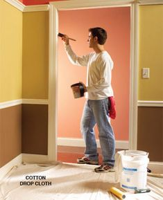 10 Interior House Painting Tips & Painting Techniques for the Perfect Paint Job - Article | The Family Handyman, need to keep this in mind when painting the baby's room