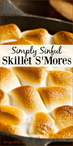 Simply Sinful Skillet S'Mores http://poshonabudget.com/2017/02/simply-sinful-skillet-smores.html via @poshonabudget