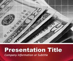 Red Finance PowerPoint Template for cash presentations, finance PowerPoint presentations