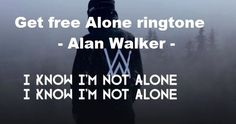 You can download Alone – Alan Walker ringtone for your phone. With the mp3 or m4r ringtone format available for easy downloading to your iPhone or Android phone. Alone Lyrics, Best Ringtones, Alan Walker, Android, Iphone, Artist, Easy, Free, Artists