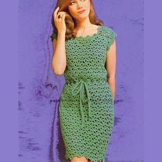 Crochet Dress | All of these are classic, vintage, sixties crochet dresses.