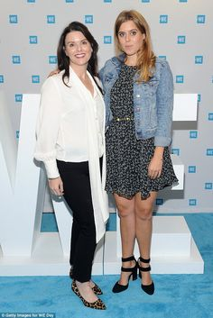 Princess Beatrice of York (R) attends the WE Day UN at The Theater at Madison Square Garden on September 2017 in New York City. WE is an international charity that focuses on partnering with communities to help lift themselves out of poverty Princess Beatrice, Princess Elizabeth, Princess Eugenie, Princess Kate, Duchess Of York, Duke Of York, Beatrice Eugenie, International Charities, Sarah Ferguson