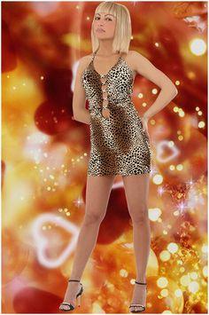 Abbigliamento da donna   http://www.abbigliamentodadonna.it/abito-leopardato-sexy-glamour-p-978.html Cod.Art.001014 - Abito leopardato sexy glamour impreziosito da borchie cromate anteriori molto chic lungo la linea centrale del corpetto. E' un capo dal carattere deciso ideale per una donna dalla forte personalita' sensuale, amante delle tonalita' calde, dall'animo intrigante e che piace apparire alla moda con originalita'.
