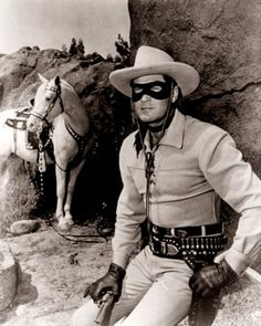 The Lone Ranger..we listened to this on the radio....no TV!.    Nice picture.
