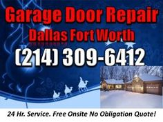 We will accommodate all of your garage door repair and garage door service needs. We service the Dallas Ft. Worth area.  (214) 309-6412     When you contact us a live person will answer the phone 24/7, to help you with all possible garage door problems. We give a Free Onsite No Obligation Quote!   (214) 309-6412