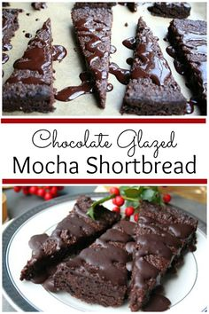 Chocolate Glazed Mocha Shortbread - This delicious dessert is low carb ...