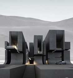 Project 819 by Roman Vlasov, on Behance Architecture Design, Modern Architecture House, Futuristic Architecture, Concept Architecture, Black Architecture, Home Building Design, Home Room Design, Dream Home Design, Modern House Design