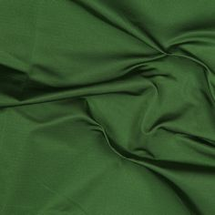 Deep Green Solid Silk Faille Fabric by the Yard   Mood Fabrics