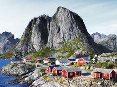 Lofoten village, Nordland, Norway