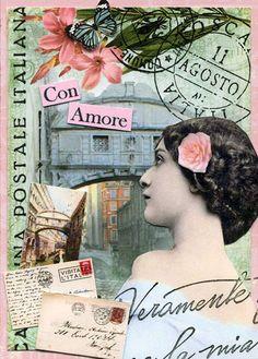 Vintage Italian postcard.       wendyofva ATC