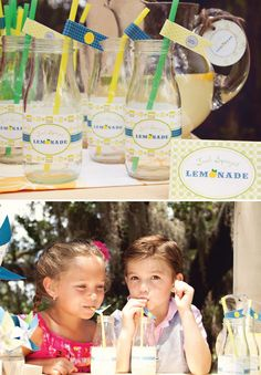 Fresh & Modern Summer Lemonade Stand Party