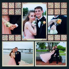 I totally needed an idea for a prom scrapbook layout and I found it! I know I am going to take a ton of photos of the kids together, so I like how this person placed multiple pictures on a single page. This would also be a good idea for a scrapbook layout for couples.