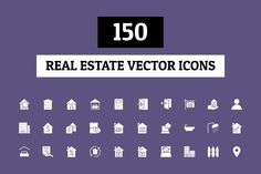 150 Real Estate Vector Icons by Creative Stall on @creativemarket