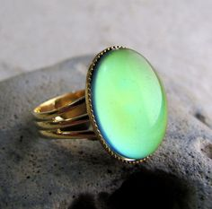Act 4- #5.  This mood ring symbolizes how if Nora would have stayed, she would have changed things for the better. Now that Nora finally spoke out and got rid of the fear she had inside of her, she might be able to change some things around her household. Sadly, she left and will never return to see the change take effect.
