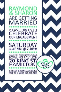chevron engagement invite