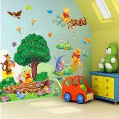 Winnie The Pooh Tigger Cartoon Wall Sticker Vinyl Art Decals Kids Room Decor lxl