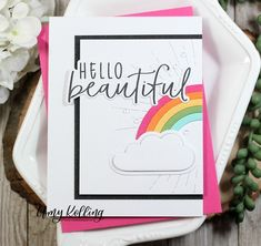 Becky Roberts, Honey Bee Stamps, Rainbow Card, Sun And Clouds, Thanks A Bunch, Foam Adhesive, Over The Rainbow, Pretty Cards, Crafty Projects
