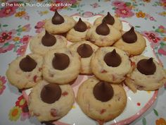 Cherry Chocolate Thumbprint Cookies - More than Occasional Baker