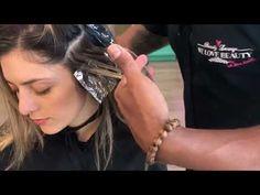 Balayage con babylights en cabello largo - YouTube