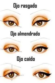 Delinear según la forma del ojo.