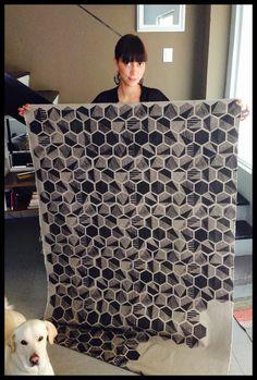Handmade fabric #turleza #patterns #screenprinting