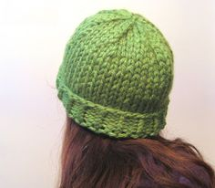megan E sass handknits: Free Knitting Pattern: Easy Chunky Knit Beanie Hat