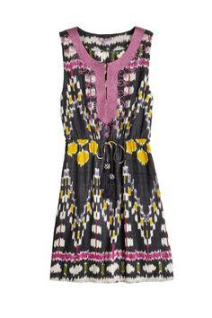 Risha Ikat Woven Cotton Dress   Calypso St. Barth