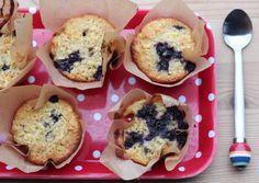 Eplemuffins med blåbær