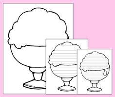 FREE - ice cream stationery/templates.
