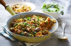 Be sure to impress your dinner guests with this very easy lamb pilaf recipe. Find out how, aswell as view hundreds of other recipes at Tesco Real Food today! Lamb Recipes, Curry Recipes, Cooking Recipes, Cooking Ideas, Diet Recipes, Turkish Lamb, Spaghetti Bolognaise, Mango Curry, Slow Cooked Lamb
