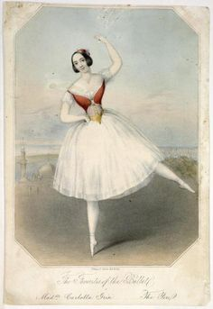 Carlotta Grisi (1819-1899), the ballerina who originated the role of Giselle.