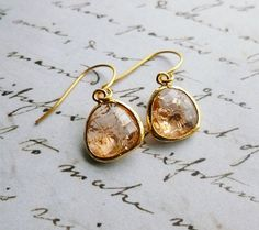 Peach Gold Earrings