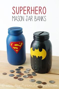 Crafts using mason jars that kids can do. Inexpensive gift ideas for Teachers and fun crafts for kids using mason jars in the classroom or at home. Diy Gifts For Men, Easy Diy Gifts, Gift For Boys, Best Gifts For Kids, Creative Gifts, Homemade Gifts For Men, Diy For Men, Mason Jar Projects, Mason Jar Crafts