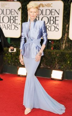 Tilda Swinton wearing Haider Ackermann and Fred Leighton jewelry at the 2012 Golden Globes