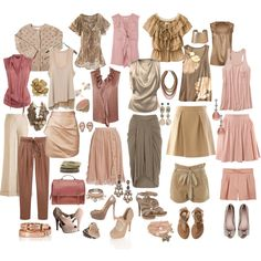 """Soft Autmn Mix for Holly"" by mpsakatrixie on Polyvore -- I'm not soft autumn but like the wardrobe ideas anyway"
