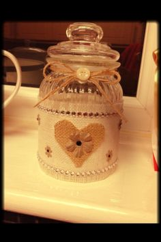 An old sweety jar. Hessian rolls from pound land