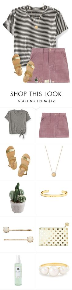 """""""~Heartbreaker~"""" by kolbee24 ❤ liked on Polyvore featuring beauty, Aéropostale, Ancient Greek Sandals, Michael Kors, BaubleBar, LC Lauren Conrad, Kate Spade, Linne, Irene Neuwirth and vintage"""