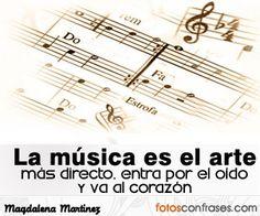Es cierto. Quien puede decir que la música no le llega al corazón.