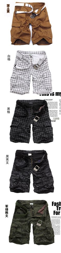 New 2013 Autumn summer Fashion for men Military Training camo cargos shorts Outdoor Camouflage cargo mens the short pants-inShorts from Appa...