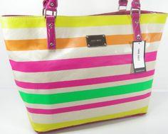 New Nine West Purse Large Hand Shoulder Bag Stripe Summer Tote Mutlicolor Pink  http://www.yearofstyle.com/new-nine-west-purse-large-hand-shoulder-bag-stripe-summer-tote-mutlicolor-pink/