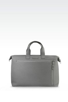 Emporio Armani Men Top Handle - WEEKEND BAG IN CALFSKIN LEATHER Emporio Armani Official Online Store $1545