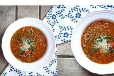 Italská čočková polévka. Delicious Blog, Soup, Ethnic Recipes, Soups, Chowder