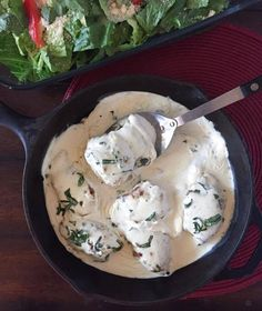 Share This: Melt in your mouth chicken, covered in a rich creamy sauce with fresh basil. An easy weeknight supper that's sure to impress! The first time I ever remember using fresh basil was in a homemade Parmesan meatball recipe. Oh, those meatballs were so good! I grew up using the dried basil. But once… Continue reading Creamy Basil Chicken Thighs {THM-S, Low Carb}