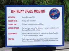 cricut space party invite   These invitations from Mission Control are perfect to send out to your ...
