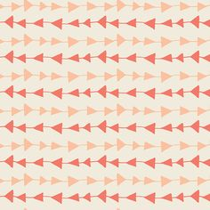 Arrow fabric, Boho fabric, Coral Orange fabric, Hello Bear fabric by Bonnie Christine for Art Gallery- Follow Me in Peach, Choose the cut