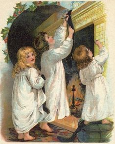free public domain image -the night before Christmas