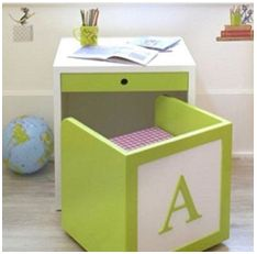 Here is a cute and compact study table perfect to enhance their learning experience. Adding some colors to the kid's room is one of the best way to create a happy environment where they can learn and grow up.