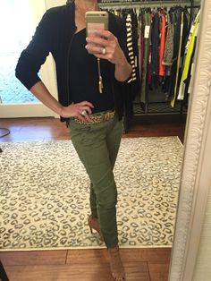 OOTD- cabi spring '16 Traveler Pant, fall '15 Kipling Belt and fall '13 One Shoulder Tank. nancydowning-schloss.cabionline.com  The Traveler pants are amazing- it's no wonder they have been so popular!  If you like them be sure to order now- who knows how much longer they will still be available!!